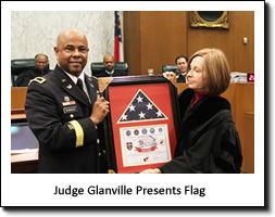 Flag Presentation by Judge Glanville